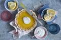 Картинка нож, лимонный пирог, пирог, лимоны, стаканы