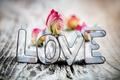 Картинка любовь, надпись, роза, LOVE
