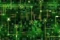 Картинка зелёное, сеть, плата