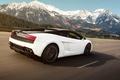 Картинка Mountains, Lamborghini, Gallardo, LP560-4, Rear, Rolling, Speed, Supercar, Tracking, Motion