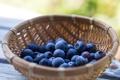 Картинка ягоды, стол, корзинка, голубика, blueberries, Черника