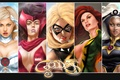 Картинка Jean Grey-Summers, Scarlet Witch, Storm, Warbird, MS Marvel, феникс, Marvel, Emma Frost
