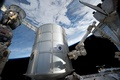 Картинка космос, Земля, шаттл, МКС, Союз ТМА, последний полет Дискавери