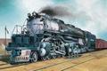 Картинка painting, train, UP-Klasse 4000, art