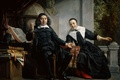 Картинка Печатник из Харлема и Его Жена, Ян де Брай, картина, портрет