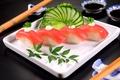 Картинка рыба, палочки, кухня, рис, rolls, sushi, суши, роллы, морепродукты, сервировка, Japanese, Японская, seafoods