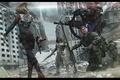 Картинка оружие, жрец, снайпер, город, отряд, девушка, разрушенный, робот, Фантастика