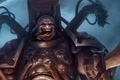 Картинка язык, мужик, броня, space marine, warhammer 40k, красавчик, fanart, chaos champion
