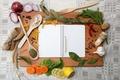 Картинка укроп, лимон, карандаш, перчик, лопатки, тетрадь, лавровый лист, лук, чеснок, ложка, макароны, морковь