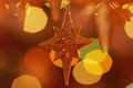 Картинка праздник, звезда, новый год, star, new year, оранжевый фон, holiday