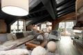 Картинка hause, interior, home, столик, лампа, диваны, окна, подушки, коврик., шахматы, кресла