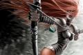 Картинка девушка, лук, стрела, волосы