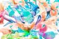 Картинка цветы, рендеринг, поле, луг, природа