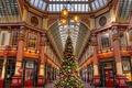Картинка украшения, праздник, шары, Англия, Лондон, елка, Рождество, Leadenhall Market, пассаж
