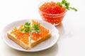 Картинка тост, икра, хлеб, бутерброд, еда, красная
