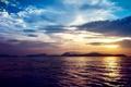 Картинка море, скалы, природа, берег, облака, закат