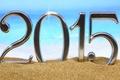 Картинка Happy, 2015, C Новым Годом, beach, пляж, sea, песок, море, sand, New Year