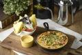 Картинка овощи, соус, запеканка