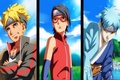 Картинка девушка, парни, ниндзя, Naruto, anime, art, троица, Sarada Uchiha, Boruto, Boruto Uzumaki, Mitsuki