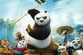 Картинка персонажи, горы, мультфильм, деревня, тигрица, Кунг-фу Панда 3, Шифу, мастер, панды, Kung Fu Panda 3