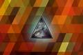 Картинка свечение, треугольник, углы, текстура, космос