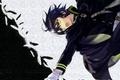 Картинка военная форма, перья, плащ, yamato yamamoto, зеленые глаза, art, крик, owari no seraph, последний серафим, ...
