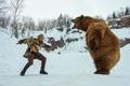 Картинка медведь, Бьёрн, Alexander Ludwig, зима, поединок, Викинги, Vikings