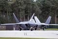 Картинка истребитель, аэродром, Raptor, Lockheed, малозаметный, многоцелевой, F-22A