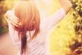 Картинка боке, солнце, спина, девушка, волосы