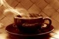 Картинка блюдце, Эспрессо, кофе, горячий, чашка