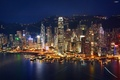 Картинка Гонконг, КНР, дома, огни, Китай, вечер, ночь, Hong Kong