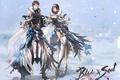 Картинка девушка, снег, арт, парень, blade & soul, zis