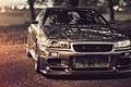 Картинка Nissan Skyline, R34, тюнинг, дорога, ниссан, скай, GT-R