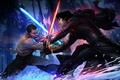 Картинка lightsaber, Patrick Brown, PatrickBrown, Finn, The Force Awakens, Star Wars: The Force Awakens, Kylo Ren, ...