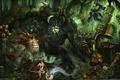 Картинка маги, война, чудовища, heroes of newerth, трубы, лес