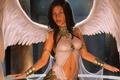 Картинка ангел, поза, девушка. взгляд. крылья, арт, angel