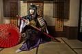 Картинка стиль, девушка, катана, одежда, лицо, кимоно, азиатка