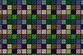 Картинка квадратики, фон, стена, сетка, рисунок, клетка, решётка, текстуры, орнамент, разноцветные