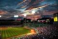 Картинка Fenway, park, boston, beysball, бейсбол, люди, облака