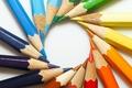 Картинка Карандаши, цвет, круг