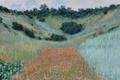 Картинка пейзаж, картина, Клод Моне, Поле Маков в Ложбине близ Живерни