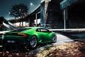 Картинка Lamborghini, Зеленый, Ламборджини, Green, Уракан, Huracan, LP610-4