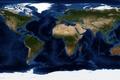 Картинка планета, карта, Земля, материки, океаны