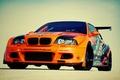 Картинка e46, оранжевая, машина, car, авто, bmw, бмв