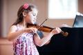 Картинка девочка, настроение, скрипка, музыка