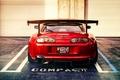 Картинка тюнинг, вид сзади, красная, Supra, Toyota, спорткар