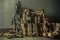 Картинка gun, assault rifle, equipment, backpack