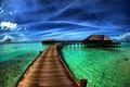 Картинка Природа, пляж, море, hdr