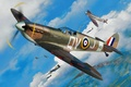 Картинка aviation, ww2, painting, airplane, Supermarine Spitfire, war, art