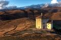 Картинка Церковь, италия, абруццо, холмы